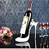 High Heels Red Wine Rack High Heel Shoe Wine Bottle Holder Resin Crafts for Creative Bar Restaurant Window Wine Cabinet Decoration Gifts Souvenirs