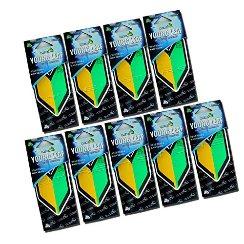 Treefrog Wakaba Young Leaf Wakaba Black Squash Scent 9 Packs, Premium Quality Paper Based air freshener JDM Product, Shoshinsha Mark