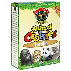 EnviroKidz Organic Gluten-Free Animal Cookies, Vanilla, 9-Ounce Boxes (Pack of 12)