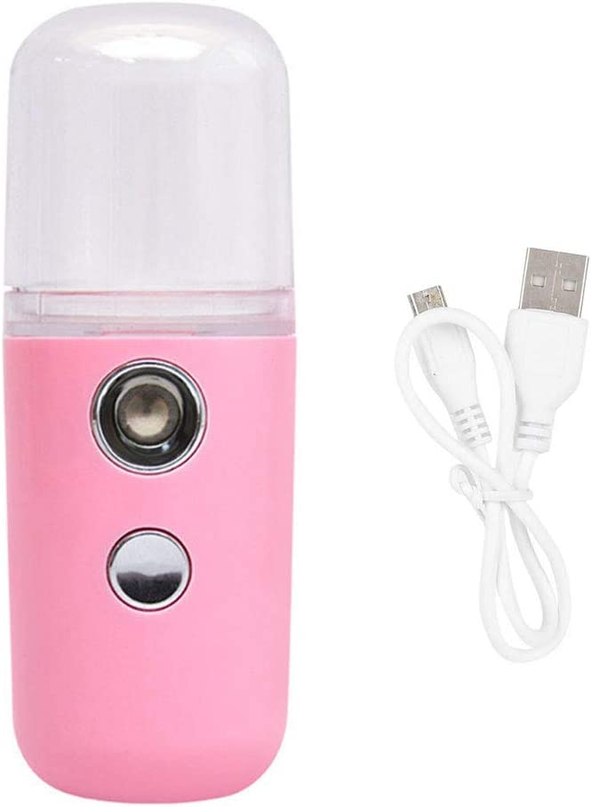 wufeng Face Moisturizing Sprayer USB Rechargeable humidifier face Portable Air Humidifier Handheld Water Atomizer Pink
