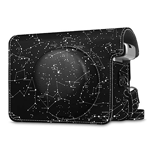 Fintie Protective Case Compatible with Fujifilm Instax Wide 300 Instant Film Camera - Premium PU Leather Protective Bag Cover with Removable Strap, Constellation