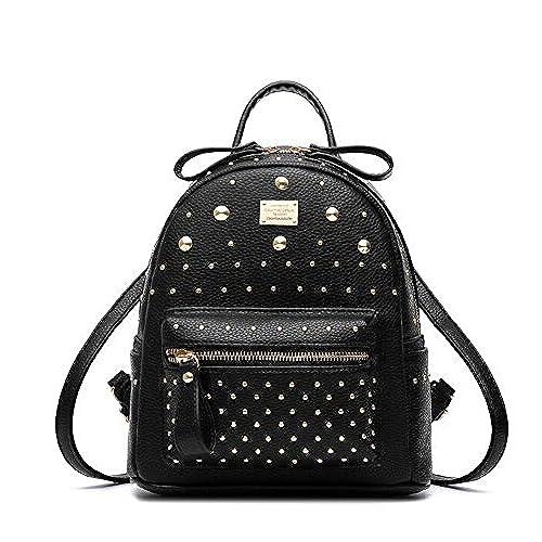Mini Girls Rivet Backpacks Purse Satchel Handbags For Women PU Leather School Book Bag