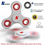 A+ Quality Fidget Spinner Toy For Anxiety & Stress Relief - Strong ABS Frame & Hybrid Ceramic Precision Bearings – Hand & Finger Sensory Toy For ADHD, ADD, OCD – For Children & Adults - WHITE