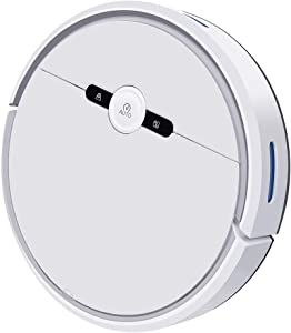 HNaGRDMMP Robot Vacuum Robotic Cleaner 2-in-1 with Mop Smart Technology Multi-Floor Mapping Virtual Boundary Works on Carpets & Hard Floors Side Brushes and Filters