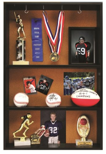 Pinnacle Black Trophy Case