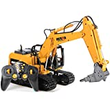 New HuiNa 560 2.4G 1/12 16 Channels Metal RC Excavator Broken Disassemble Charging RC Car Model Toys By KTOY