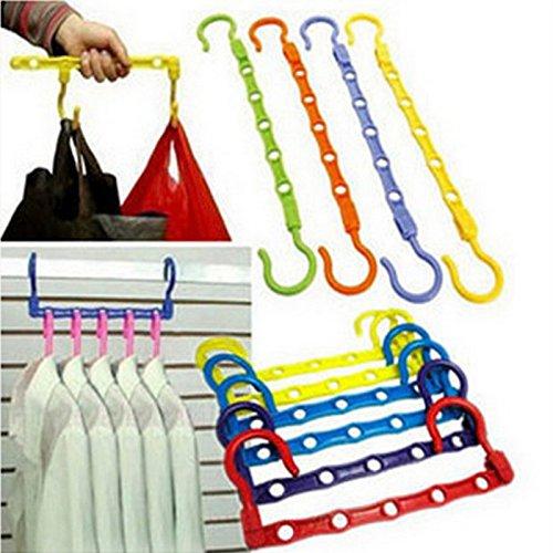 5-Hole Space Saver Wonder Magic Hanger Hook Closet Organizer Promotion Hi2deals 6.38