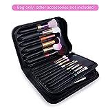 DUcare Professional Makeup Brushes Organizer Bag (Only Bag) Leather Big Makeup Artist Case with Mirror Holder Cosmetic Makeup Handbag(Only Bag)