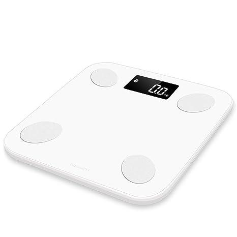 MUTANG Báscula electrónica Báscula Digital de Alta precisión Slim Slim Bluetooth con tecnología Step-on