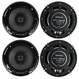 4) New Kenwood KFC-1665S 6.5 Inch 600 Watt 2-Way Car Audio Door Coaxial Speakers