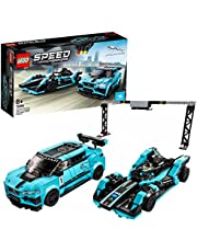 LEGO Speed Champions 76898 Formula E Panasonic Jaguar Racing GEN2 Car and Jaguar I-PACE eTROPHY Building Kit (565 Pieces)