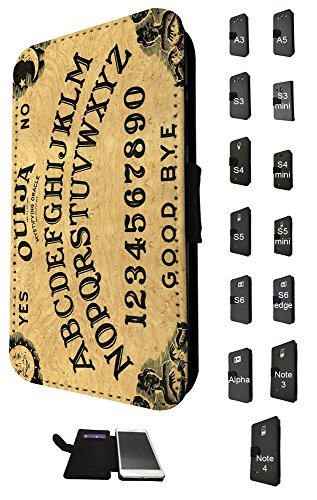 789 - ouija board Print Design Fashion Trend Credit Card Holder Purse Wallet Book Style Tpu Leather Flip Pouch Case Samsung Galaxy S6 i9700