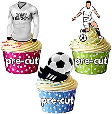 AK Giftshop PRECUTUTUTHappy Birthday Football Party Pack ...