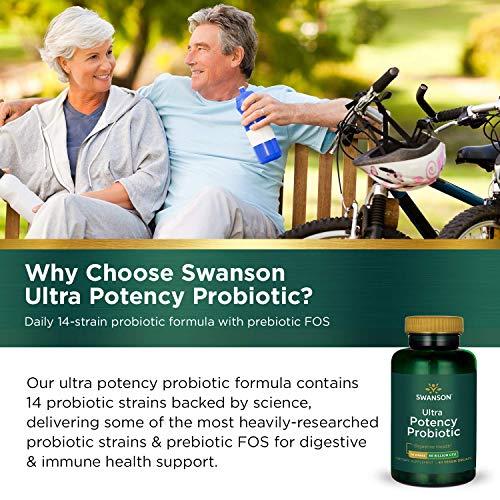 Swanson Ultra Potency Probiotic Digestive Health Immune System Support 66 Billion CFU Prebiotic NutraFlora scFOS 60 DRcaps Veggie Capsules (Caps) (2 Pack) by Swanson (Image #5)