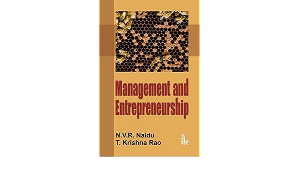 Management And Entrepreneurship By Naidu Ebook