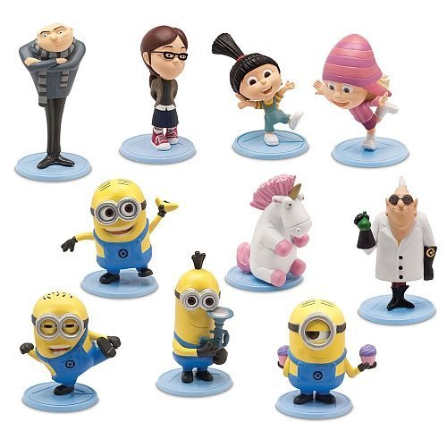 Despicable Me 2 PVC 2 Inch Mini Figure 10-Piece Set [Gru, Dr.Nefario, Margo, Edith, Agnes, Unicorn, Tim, Dave, Tom &Stuart] by MISSING]()