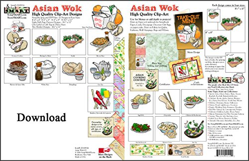 ScrapSMART - Asian Wok - Software Collection - Jpeg & PDF files for Mac [Download] (Collection Wok)