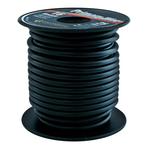 Grand General 55230 Black 16-Gauge Primary Wire