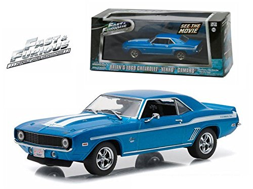 New 1:43 Fast & Furious BRIAN'S 1969 BLUE CHEVROLET YENKO CAMARO Diecast Model Car By (Yenko Camaro)
