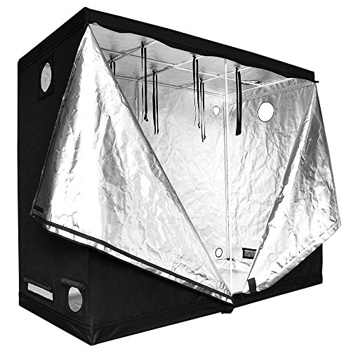 96x48x78 Inches Hydroponics Indoor Improved 100% Reflective Mylar Grow Tent w/ Exterior Zippers Design & Multiple Vents for Outdoor Indoor Garden Plant Growing Tents by Generic