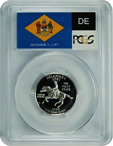(1999 S Delaware Silver Statehood Delaware Silver Statehood Quarter DCAM PCGS PR-69)