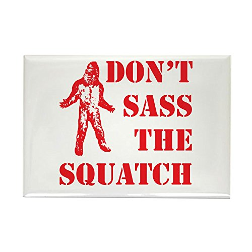 Magnet Red Rectangle (CafePress - Dont Sass The Squatch Red - Rectangle Magnet, 2