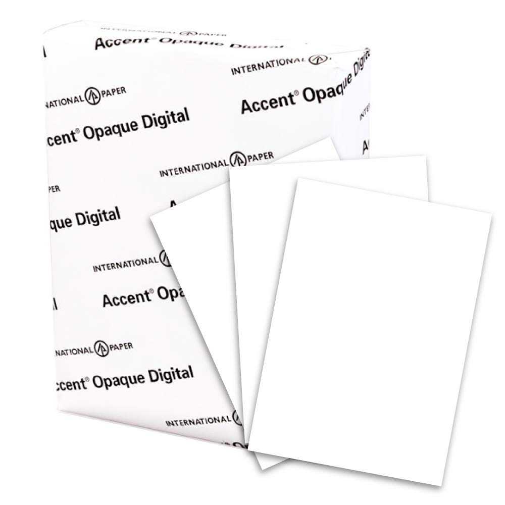 Accent Opaque Thick Cardstock Paper, White Paper, 100lb Cover, 271 gsm, 18x12 Paper, 97 Bright, 4 Ream Case / 700 Sheets, Smooth, Heavy Card Stock (189029C) by Accent (Image #2)