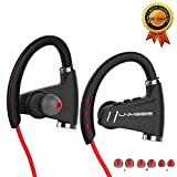 Bluetooth Headphones LNMBBS In-ear Sports Wireless Earbuds Noise Cancelling - IPX5 Waterproof for Gym Running with 12 Hours Music Time Playing (Red)