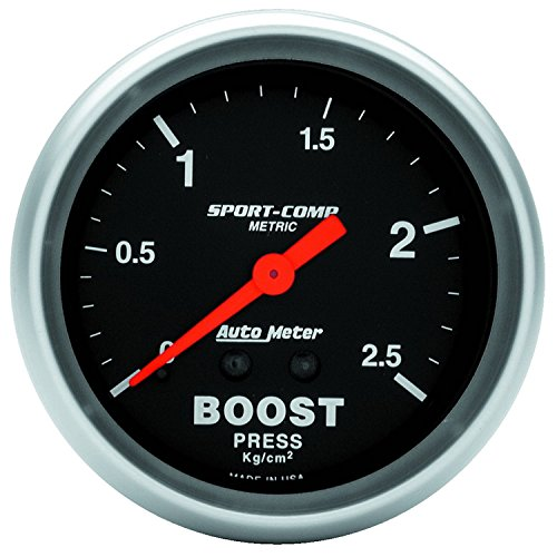 Auto Meter 3404-J Sport-Comp Mechanical Metric Boost (Metric Boost)
