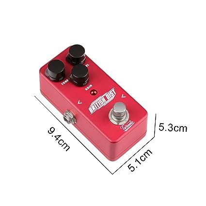 XuBa Pedal de Efectos de distorsión Mini procesador de Efecto para Amplificador de Guitarra eléctrica -