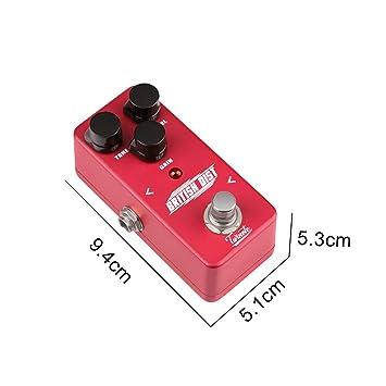 XuBa Pedal de Efectos de distorsión Mini procesador de Efecto para ...