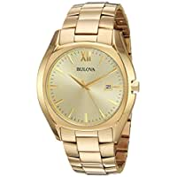 Bulova Men's Quartz and Stainless-Steel Casual Watch, Color:Gold-Toned (Model: 97B146)