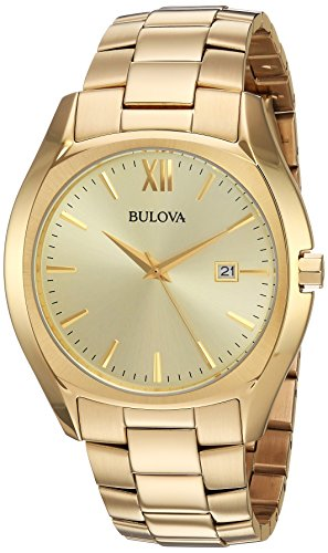 Bulova-Mens-Quartz-and-Stainless-Steel-Casual-Watch-ColorGold-Toned-Model-97B146