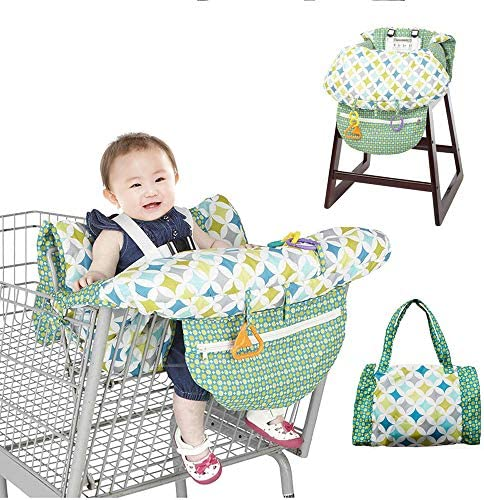 Galapara Cart Cover for Babies 2-in-1 High Chair Cover Baby Supplies Shopping Cart Covers for Baby Mat Trolley Cover Soft Portable Seat Pad Kids Shopping Cart Travel Gear for Babies Infants / Galapara Cart Cover for Babies 2-in-1 H...