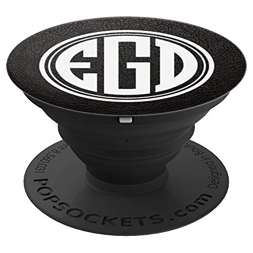 f2ebe8f1c514 EGD Monogram Pop Socket Initials EGD or EDG on Black - PopSockets Grip and  Stand for