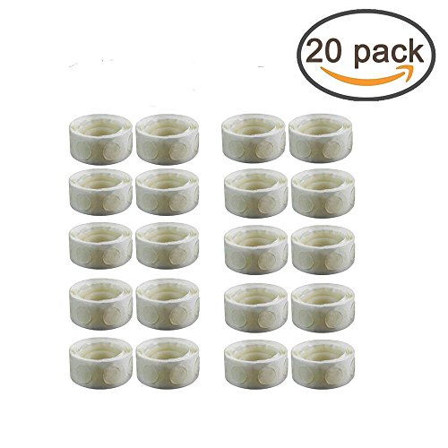 2000 PCS Glue Point Clear Balloon Glue Removable Adhesive Dots Double Sided Dots of Glue Tape for Balloons Party Or Wedding Decoration,20 Rolls