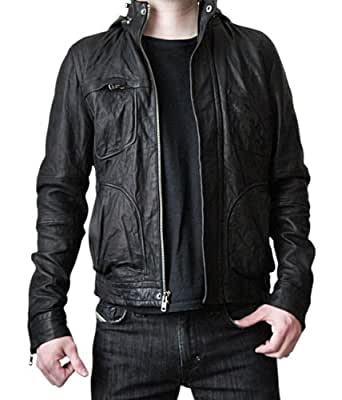 Mission Impossible Ghost Protocol Hooded Jacket - Ethan Hunt MI4 Leather Jacket (XS)