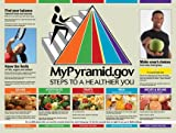 "My Food Pyramid Poster 18"" x 24"" Laminated, USDA MyPyramid. Food Groups, Good Health Habits and Smart Choices for all Ages!"