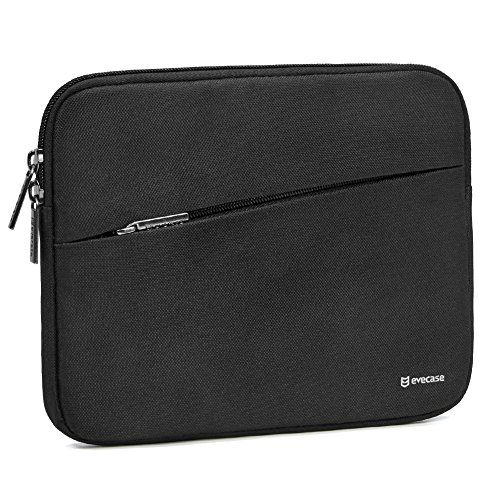 iPad Mini 4 Sleeve, Evecase Water Repellent Shockproof Portable Carrying Protective Case Bag with Accessory Pocket for iPad Mini 4, 3, 2 / Android 7-8 inch Tablet Device - Black