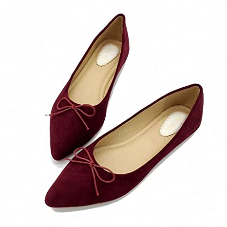 6a21b5cdec2ca Amazon.com: August Jim Womens Flats Shoes,Low Top Pointed Toe Ballet ...