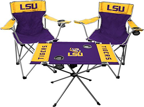 Jarden NCAA LSU Tigers Tailgate Kit, Team Color, One - Lsu Chair Tailgate Tigers