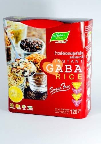 Set 2 Boxes Nutri Mate Premium Instant Gaba Rice Powder Beverage 100% Organic,Sugar Free, Trans Fat 0%, Cholesterol 0% 2x (120g) by Manas9