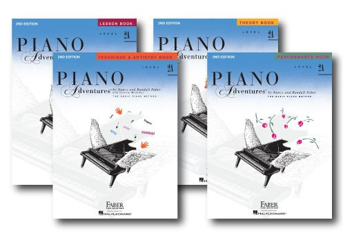 Price comparison product image Faber Piano Adventures Level 2A Learning Library Pack Four Book Set - Lesson,  Theory,  Performance,  and Technique & Artistry Books