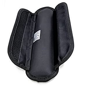 Shacke Memory Foam Shoulder Pad Replacement for Bags - Long and Super Comfortable (Black)