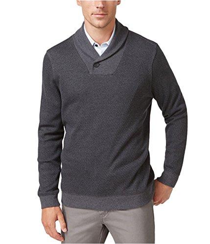 Tasso Elba Mens Long Sleeve Printed Shawl-Collar Sweater Gray L from Tasso Elba