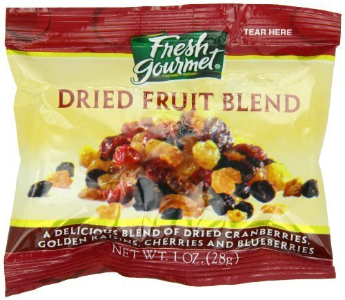 Fresh Gourmet Dried Fruit Blend For Oatmeal, 120 Count by Fresh Gourmet