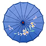 33' Japanese Chinese Umbrella Parasol For Wedding Parties, Photography, Costumes, Cosplay, Decoration And Other Events - Blue