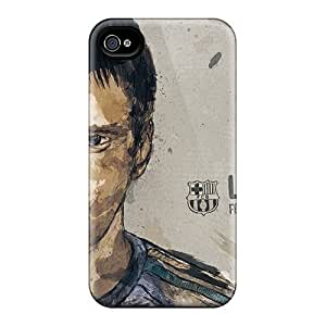 Case For Apple Iphone 4/4S Case Cover , Lionel Messi Pattern