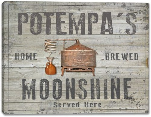 POTEMPA'S Home Brewed Moonshine Stretched Canvas Print