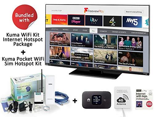 AVTEX 249DSFVP 24 Inch TV with Kuma Wifi Hotspot Booster Kit & 4G Internet Pocket Wi-Fi SIM Hotspot Router with Antenna…